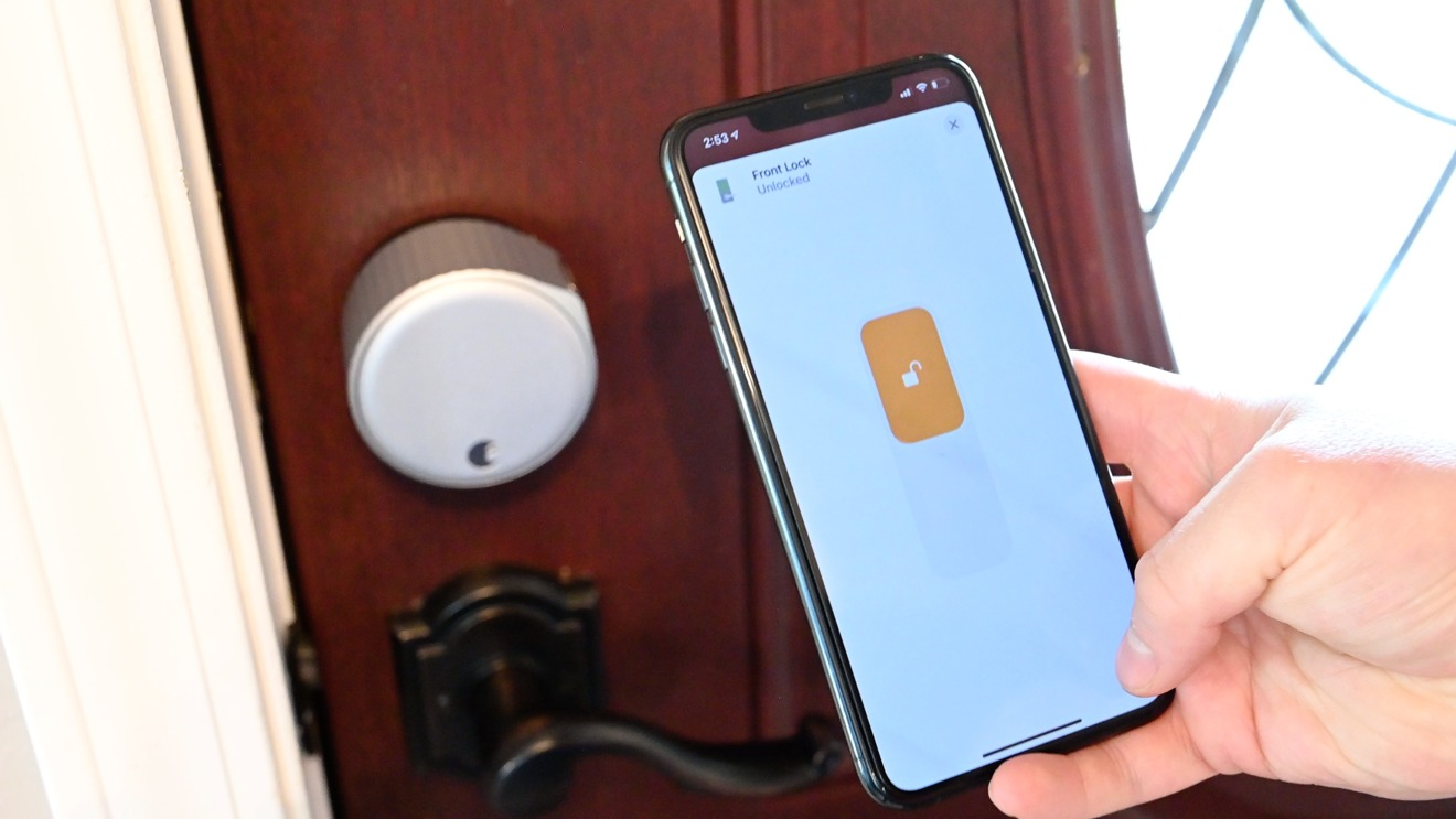 The August lock appearing in the Home app