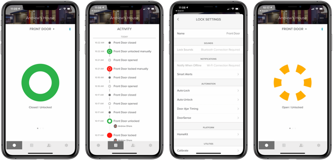 The August Wi-Fi Smart Lock in the August app
