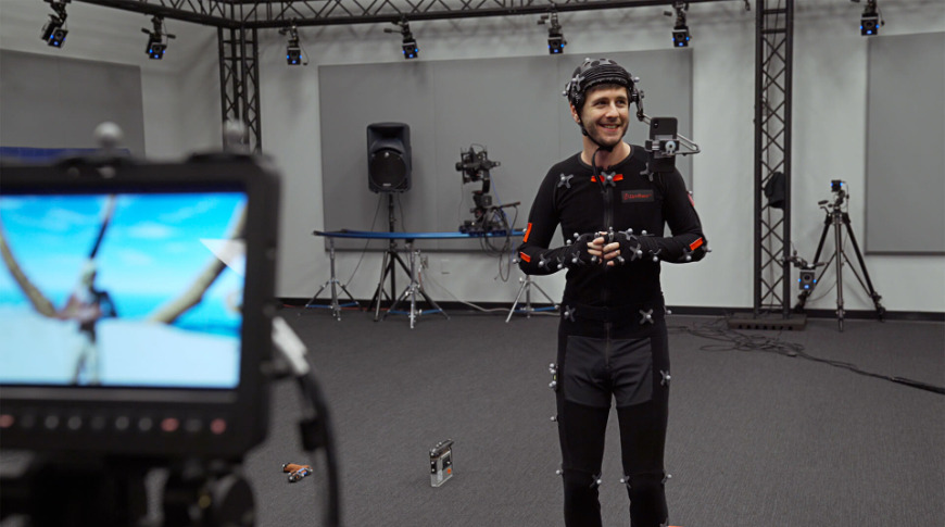 Live Link Face app being used for live motion capture