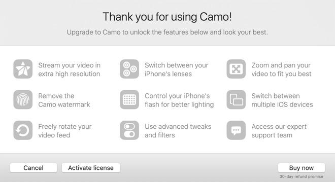Camo features