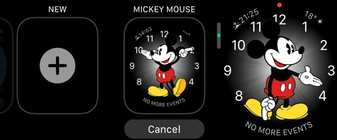 Adding a new watch face on the Apple Watch.