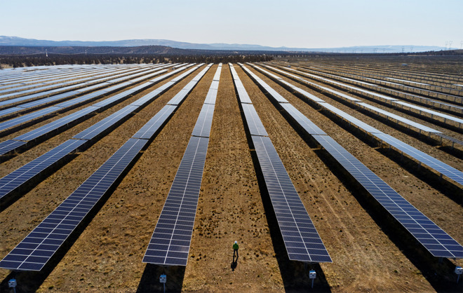 Apple solar farm, part of its existing carbon reduction initiatives