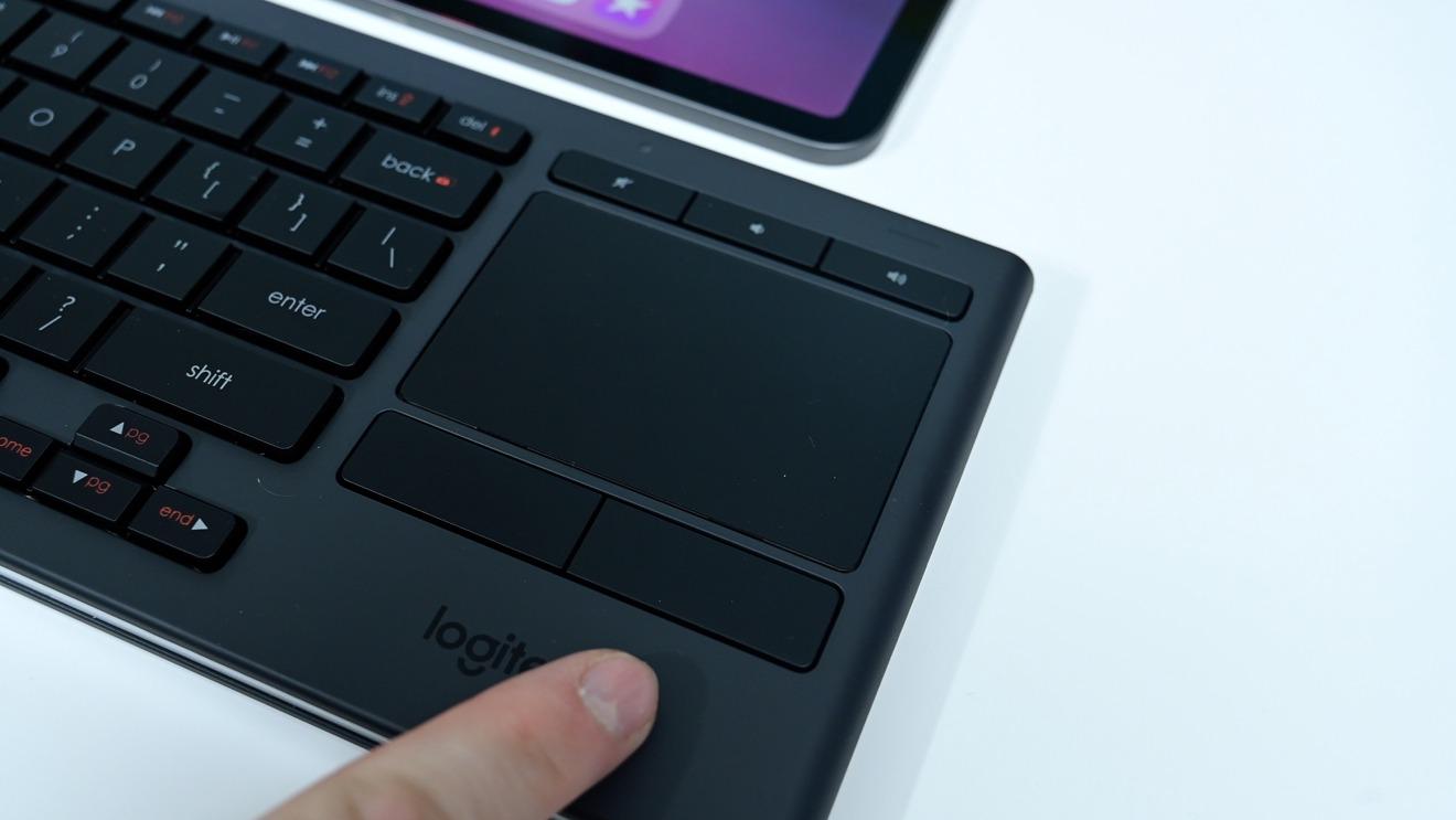 Logitech K830 Media trackpad