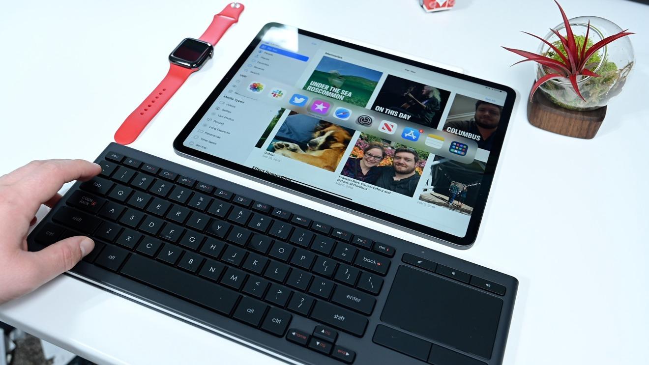 Logitech K830 Media keyboard and trackpad