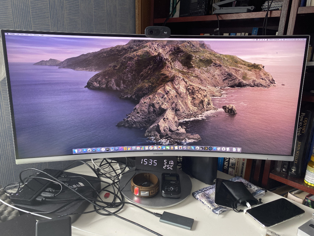 A curved 34-inch monitor looks enormous at first, but you soon want wider still