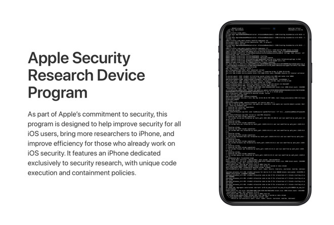 Apple's Security Research Device Program website