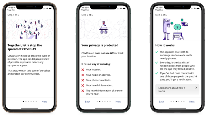 The on-boarding process is simple and explains how the app works