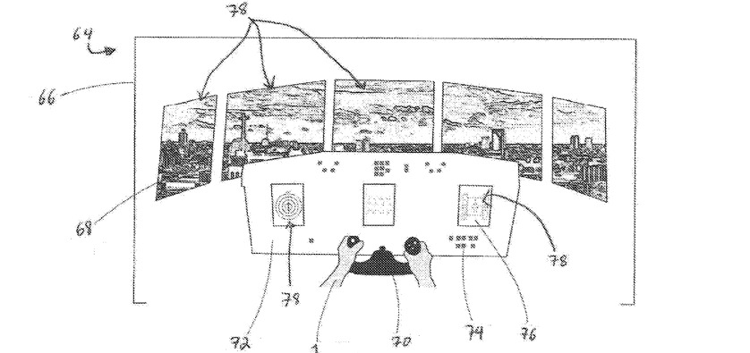 Detail showing an example headset view when images have been replaced