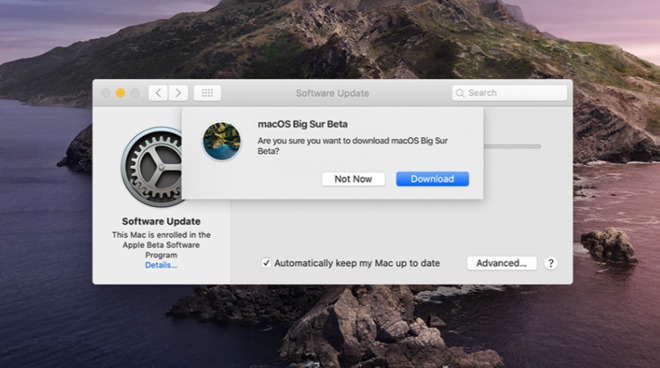First macOS Big Sur public beta available