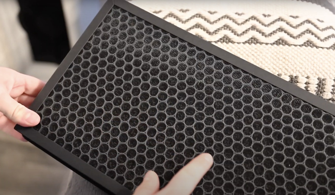 Activated carbon in the VOCOlinc PureFlow air purifier filter