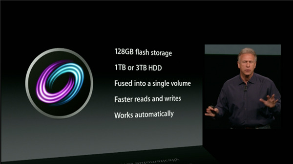 How Apple introduced Fusion Drive to the world.