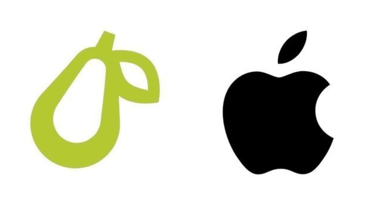 Apple takes legal action against a company that uses a pear logo