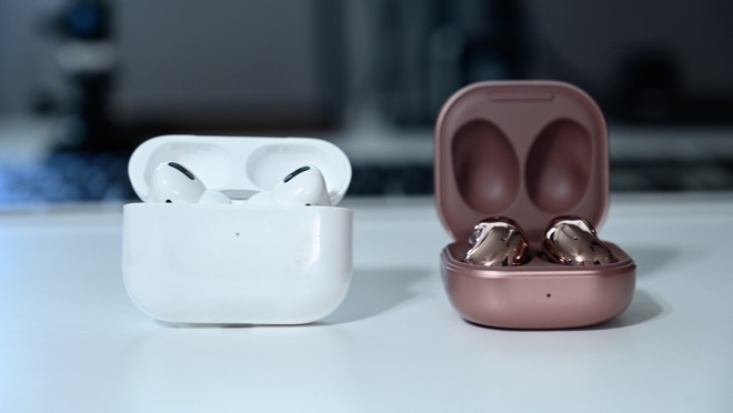 AirPods Pro and Galaxy Buds Live