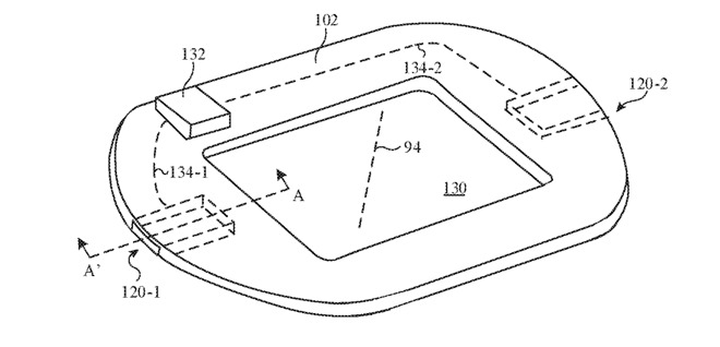 Apple envisions the layer as a loop, so as to not interfere with the heart rate sensor.