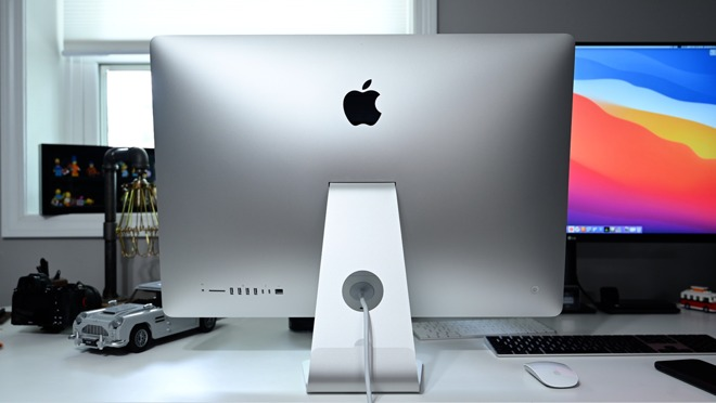 Rear of the 27-inch iMac