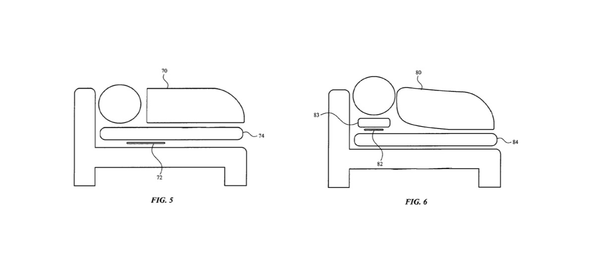 Examples of where bed sensors could be placed. Credit: Apple