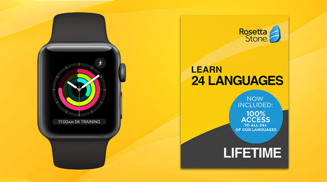 Deals: Apple Watch $169, lifetime Rosetta Stone bundle drops to $199