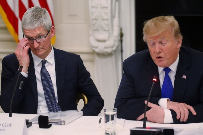 photo of Trump says 'whatever' to concerns about WeChat ban hurting Apple image