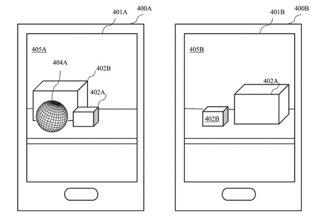 Different viewpoints could allow one device to share data on an object another cannot see.