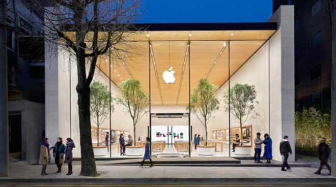 Apple's only store in South Korea