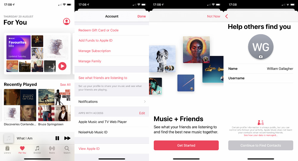 Tell us you could find this by chance. Tap on your Profile icon at top right of the Apple Music screen to start sharing music with friends.