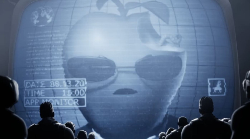 Another still from Epic's parody of Apple's '1984' Super Bowl commercial