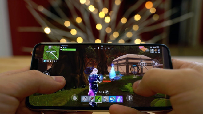 Playing Fortnite on an iPhone