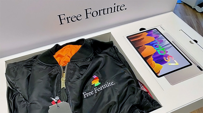 A 'Free Fortnite' care package sent to influencers.