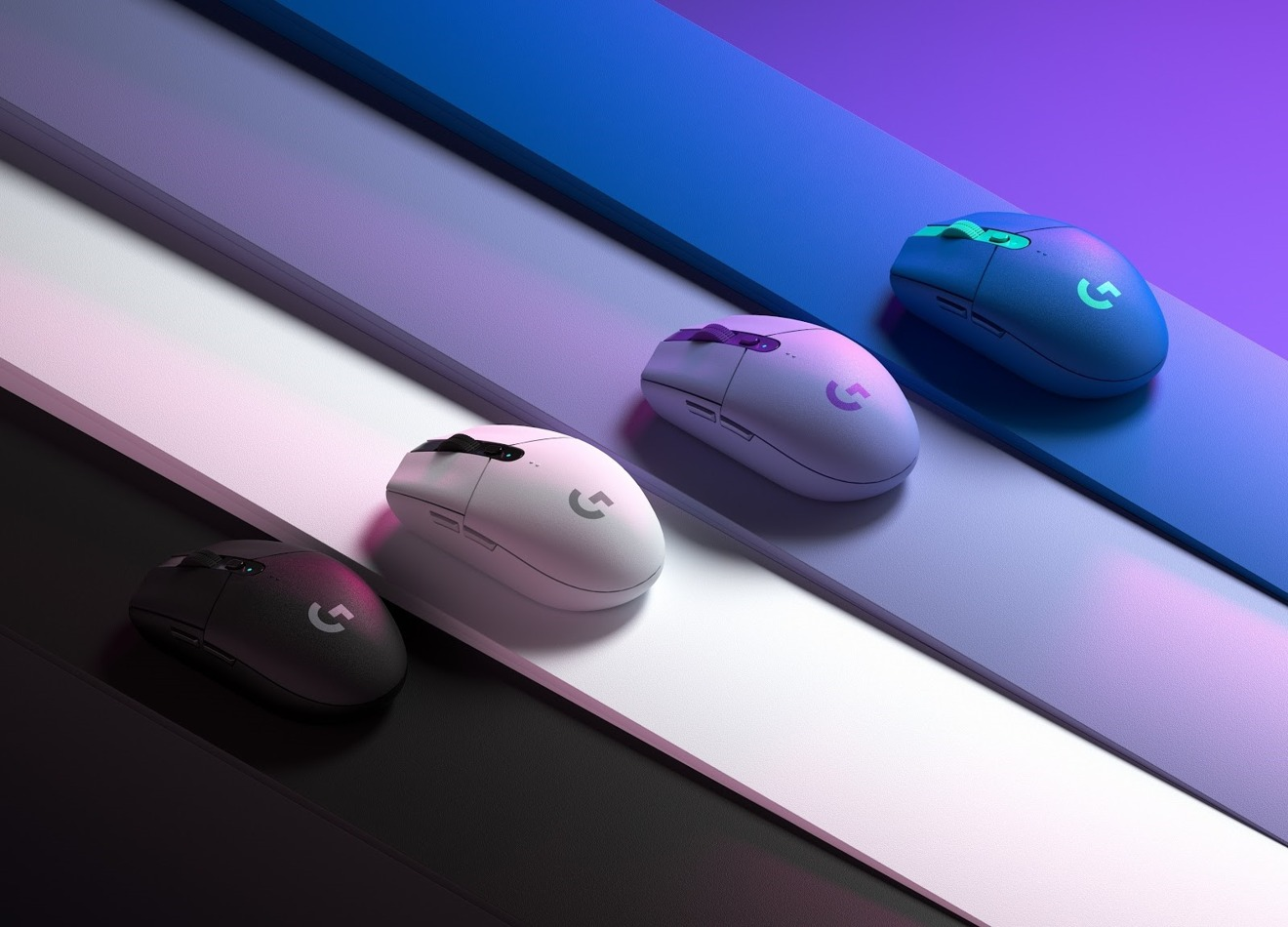 Wireless G305 gaming mouse is now available in blue and lilac alongside white and black