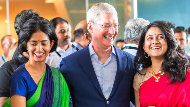 Apple CEO Tim Cook in India.