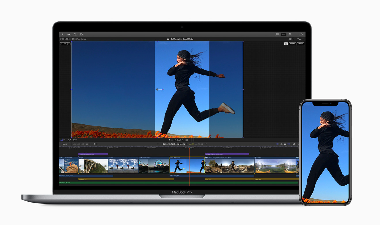 Special crop tools in Final Cut Pro X for social media video publication