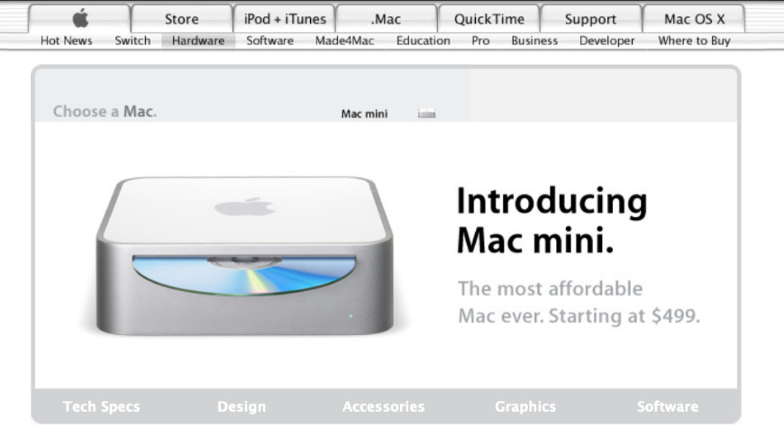The first Mac mini from 2005