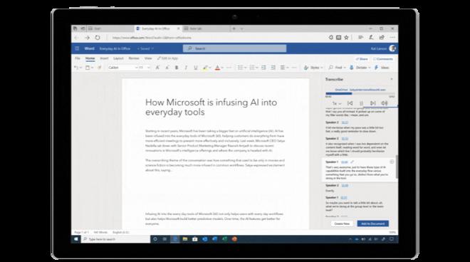 Transcription on Microsoft Word