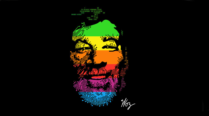 Artwork for the celebration of Woz's 70th.