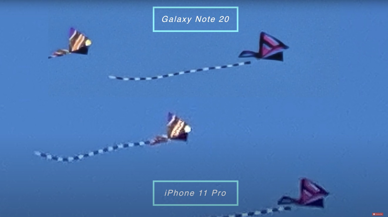 Note 20 at 30X compared to iPhone at 30X shows how far ahead Samsung is