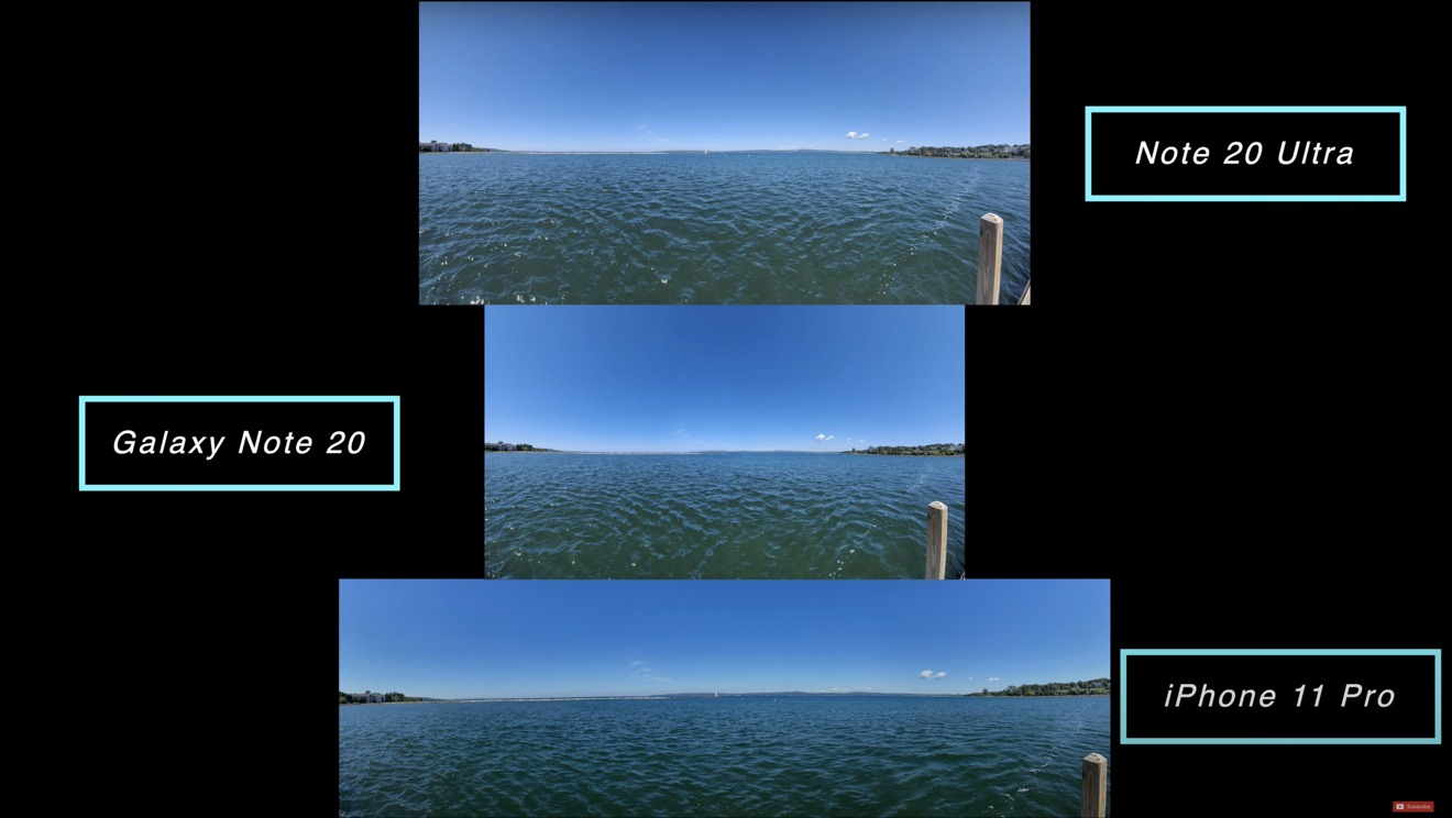 Panoramas shot with each device yield different sized photos