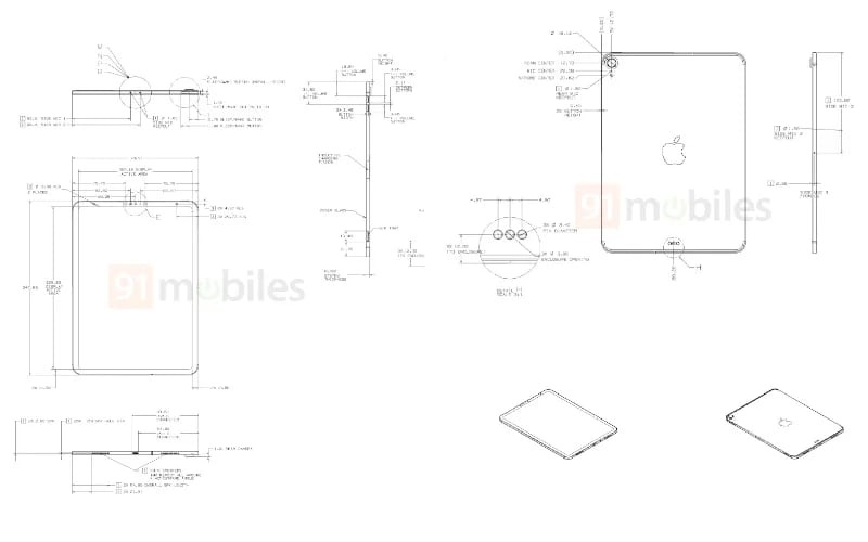 Alleged iPad Schematics (via 91mobiles)