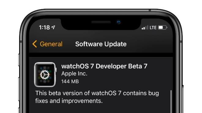 watchOS 7 developer beta 7