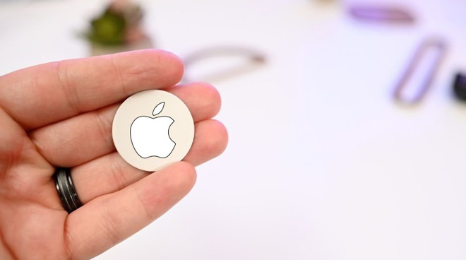 A concept of what Apple's AirTags could look like. Credit: AppleInsider