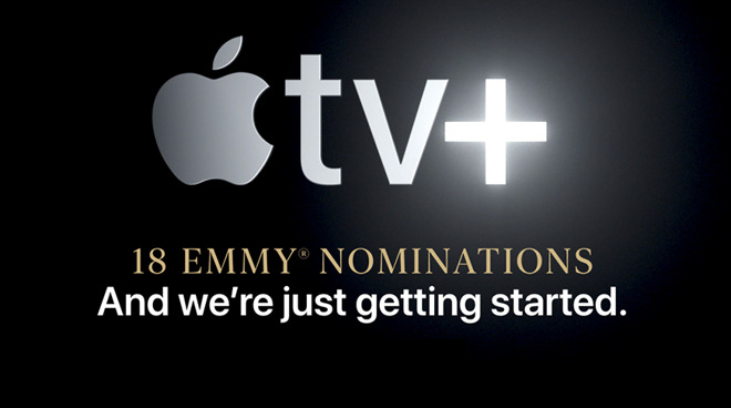 Apple homepage highlights Apple TV+ Emmy nominations