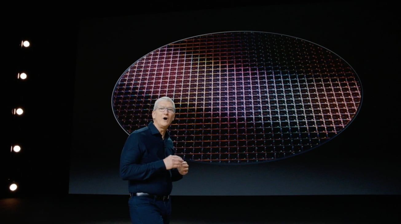 Apple CEO Tim Cook on stage at WWDC 2020