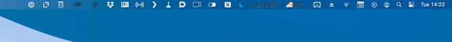 The menubar changes color to match your wallpaper, which sometimes means menubar apps look little toothless