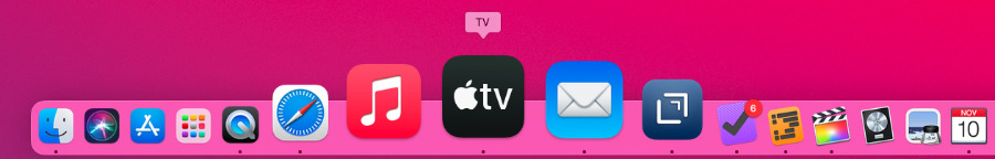 The Dock is a bit candy-colored