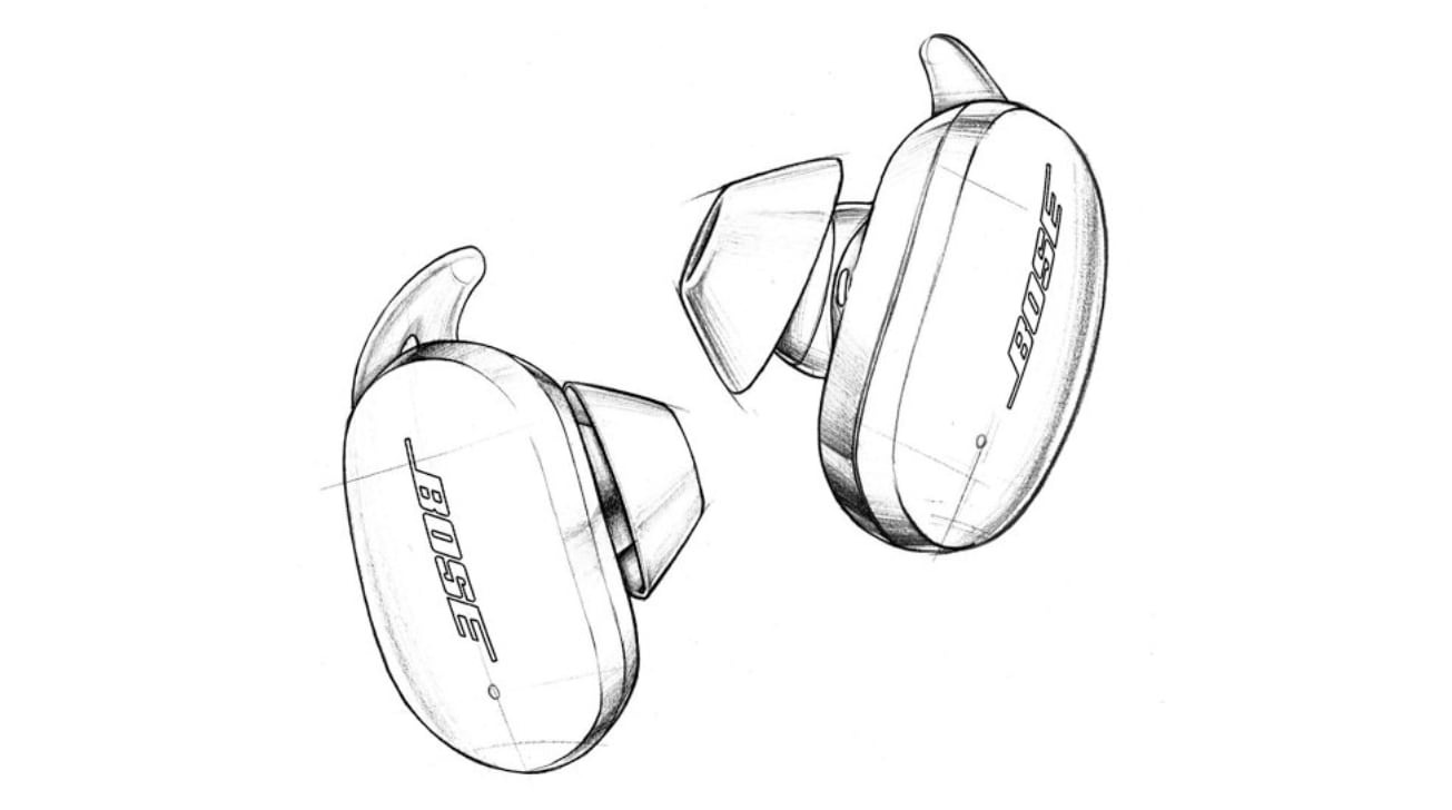 An illustration of the Noise Cancelling Earbuds 700, before rebranding.