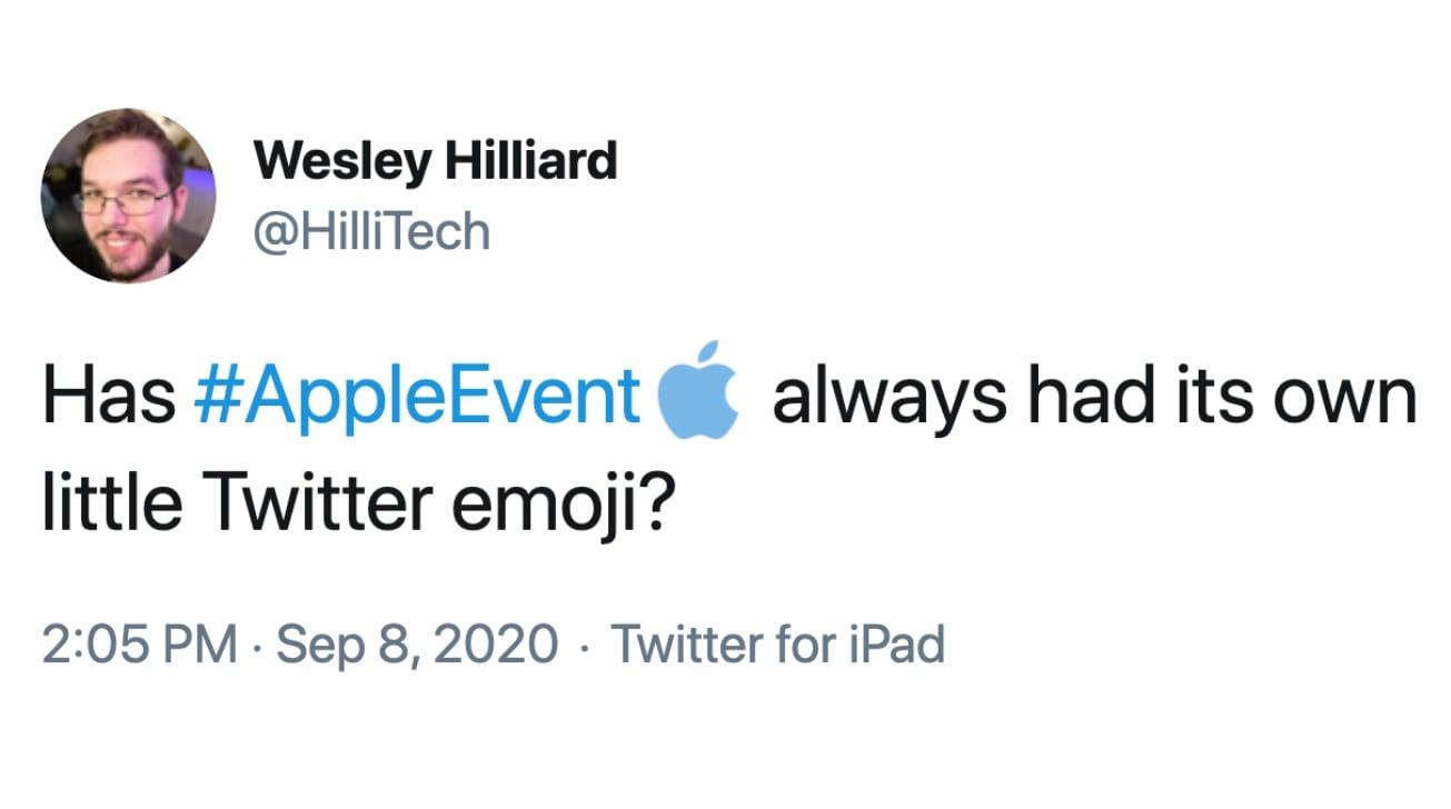 Twitter Gains Custom Hashtag For Appleevent Through September 28 Appleinsider