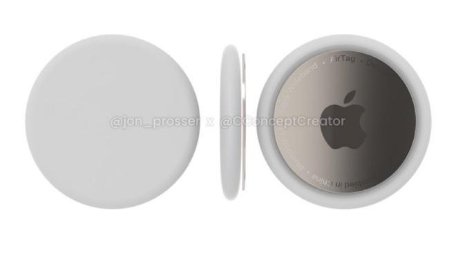 A render of Apple's AirTags [via Jon Prosser]