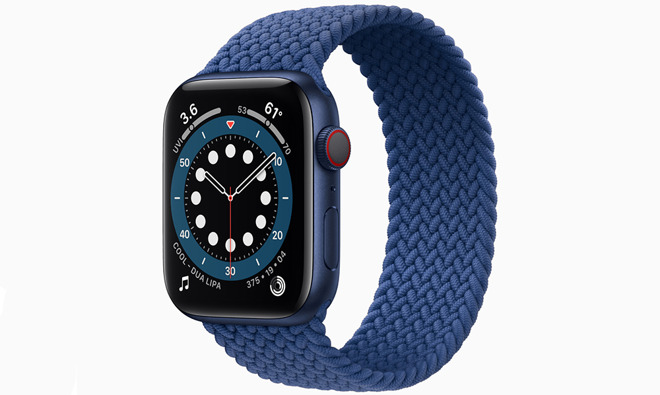 The new blue color option for the Apple Watch Series 6. Credit: Apple