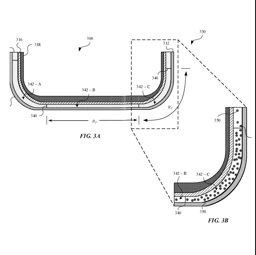 Detail from the patent showing magnetic particles being aligned