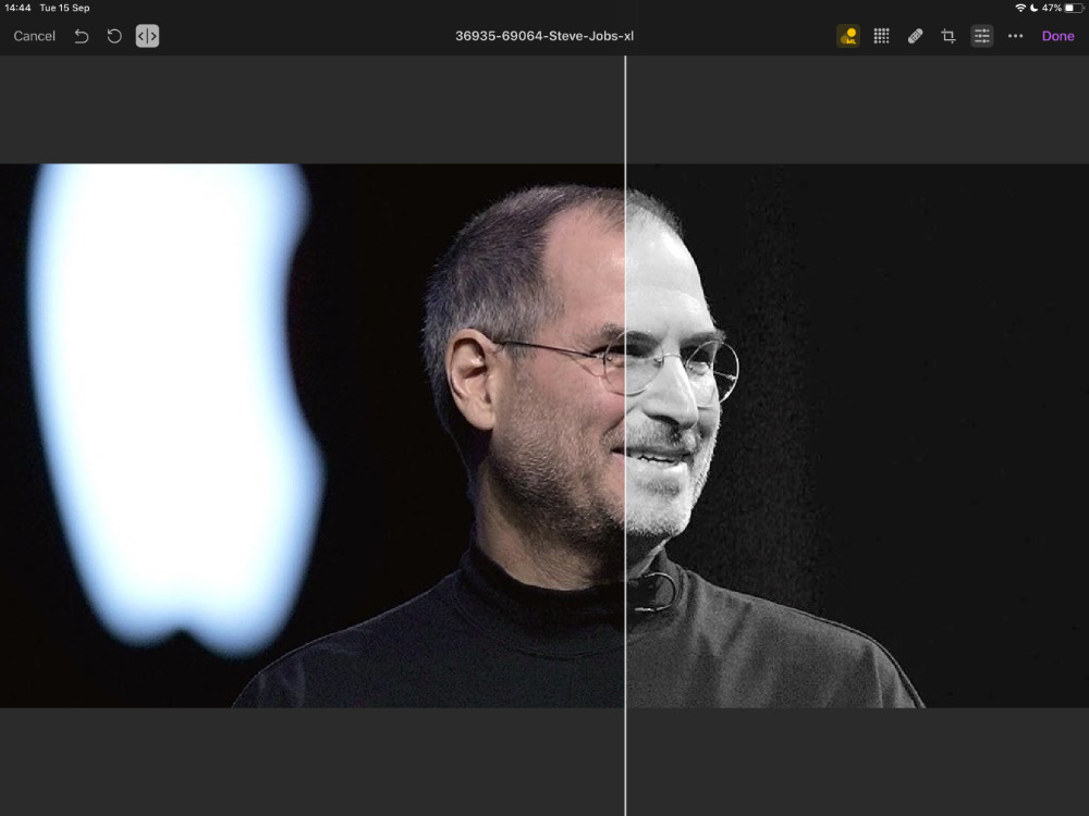 Pixelmator Photo's Machine Learning features —  like this ML Match Color one —  now have a Quick Comparison slider to let you see your improvements