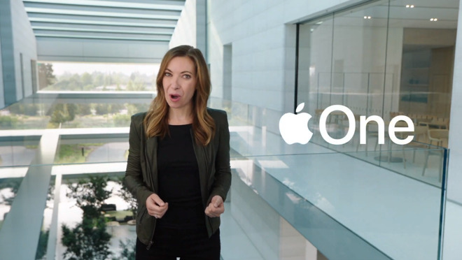 The announcement of Apple One